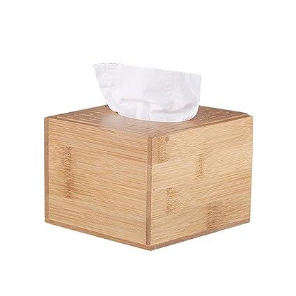 AOLVO Caja de pañuelos de Madera para Manualidades, diseño de ávulos