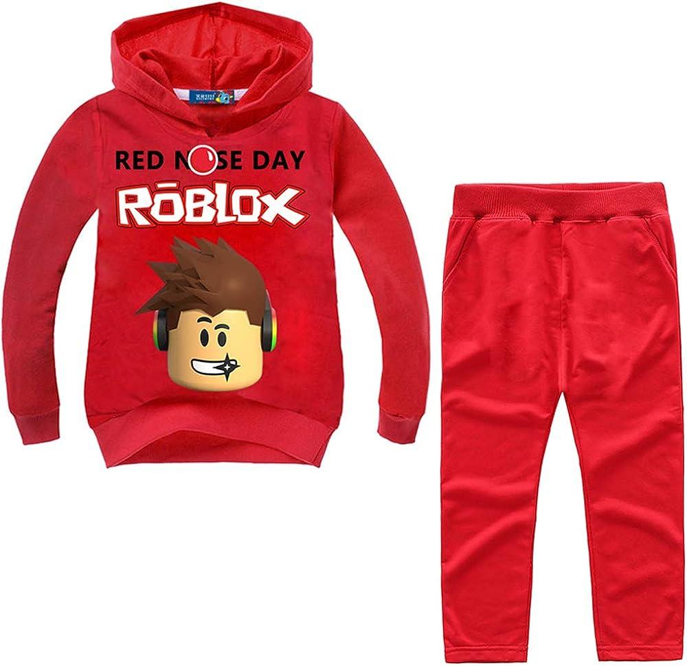 Red Coat Roblox Children Roblox Children S Cute Cartoon Sweater Suit Boys And Girls Hooded Jacket Sweatshirts Coat Amazon Co Uk Clothing