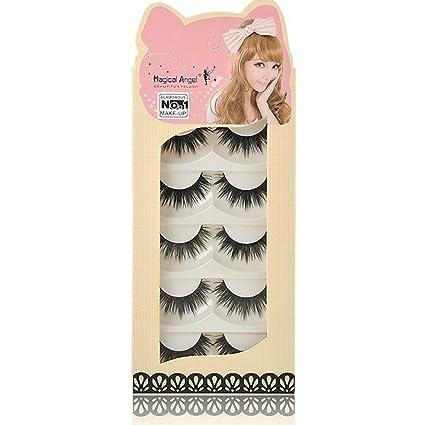 1 Pair Sell Peach Heart False Eyelashes Korea Natural Naked Makeup Long False Eyelash Handmake Eye Lashes Makeup Kit Gift #027 Fine Quality False Eyelashes Beauty & Health