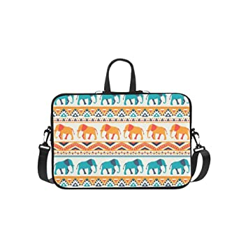 95c676e8e039 Amazon.com: Animal Retro Elephant Briefcase Laptop Bag Messenger ...