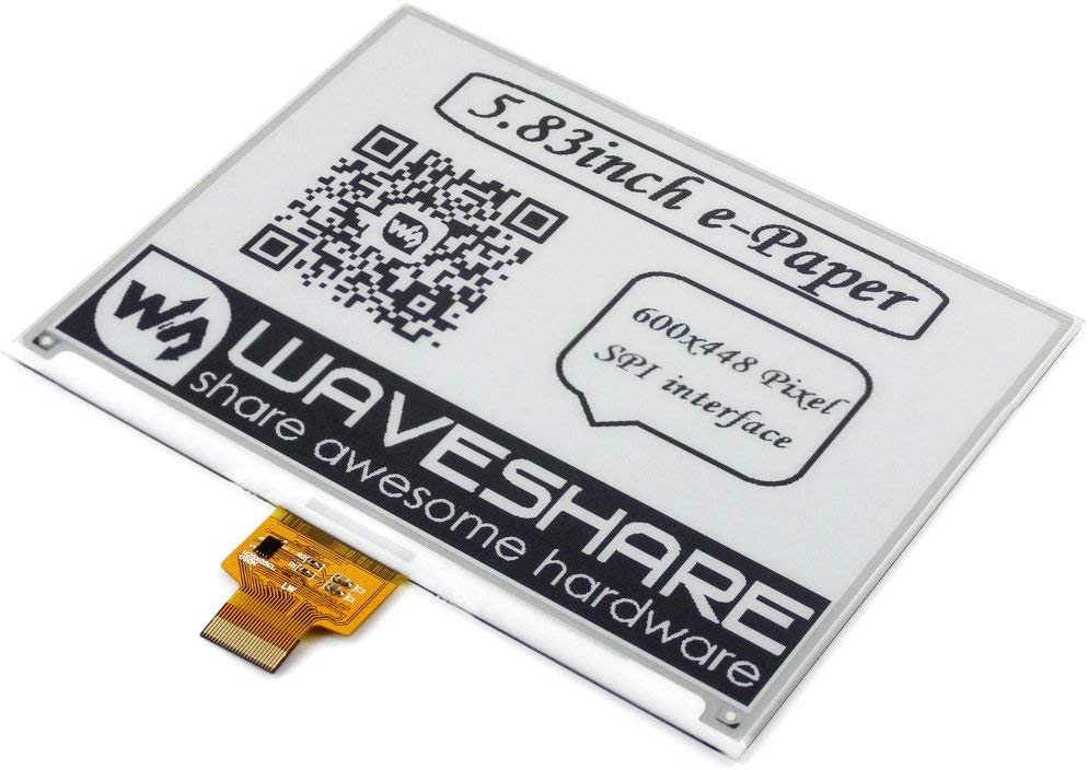 waveshare 5.83inch E-Ink Raw Display Panel 600x448 Resolution E-Paper Display eink Screen epaper Without PCB with Embedded Controller SPI Interface Support Full Refresh
