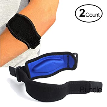 86d8b1d293 Amazon.com: Tennis Elbow Brace (2+2 Pack) with Compression Recovery ...