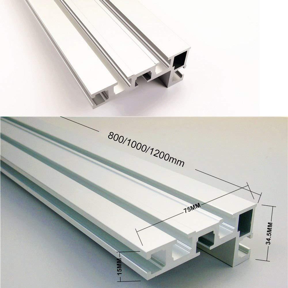 Hauteur 75 mm /Établi pour cl/ôture Avec rail en T Scie arri/ère en aluminium pour le travail du bois