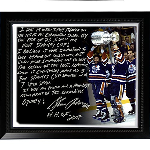 NHL New York Rangers Framed 22x26 Glenn Anderson Facsimile 'Oilers Dynasty' Story Stretched Canvas ()