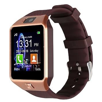 Padgene DZ09 reloj inteligente cámara Bluetooth Smart muñeca reloj teléfono con tarjeta SIM ranura 2.0 Cámara