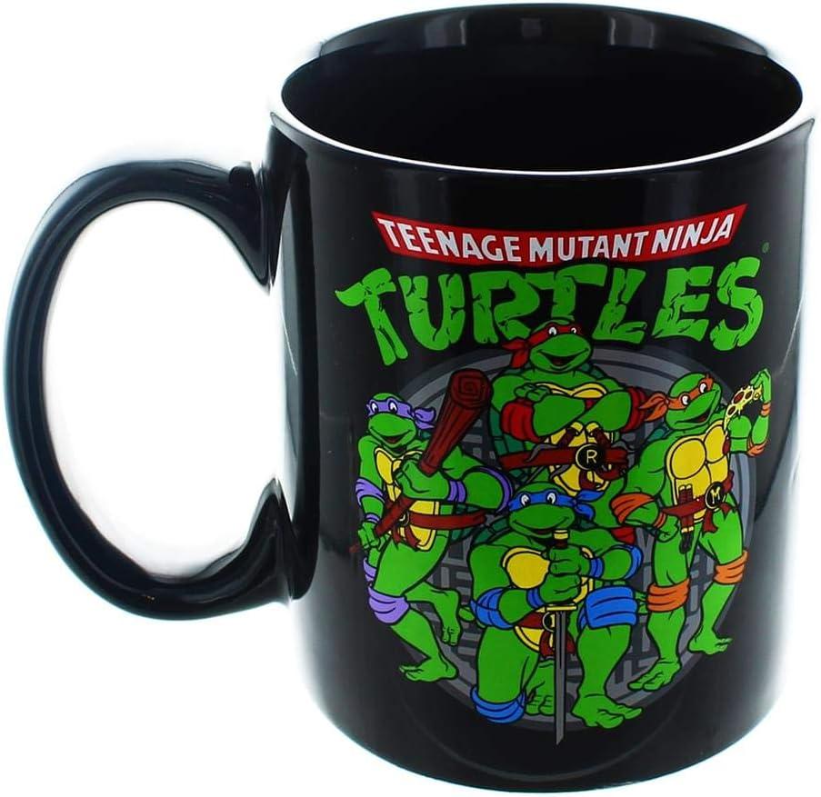 Teenage Mutant Ninja Turtles TMNT 20oz Dark Jumbo Size Ceramic Logo MUG by TNMT