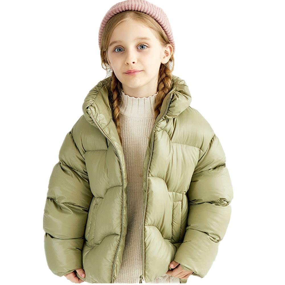 vert 140cm YZ-HODC Les Filles d'enfants réchauffent Le Manteau Court vers Le Bas, Outwear léger de Conception Coupe-Vent, Manteau d'hiver des Enfants idéaux