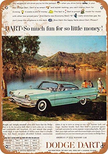 1960 Dodge Dart - Wall-Color 9 x 12 Metal Sign - 1960 Dodge Dart - Vintage Look