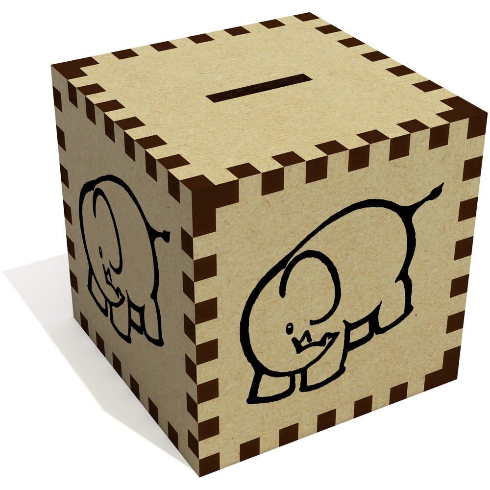 azeeda ' Cute Elephant ' Money Box /貯金箱( mb00065849 ) B07CG3SL2X