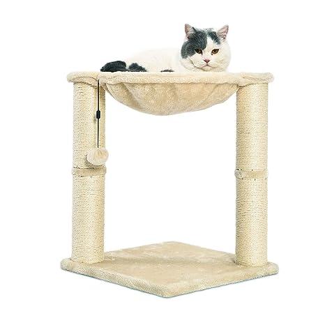 Amazon.com: AmazonBasics rascador y hamaca para gatos : Mascotas