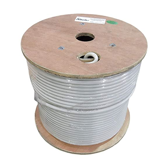 Altelix AX400FRW Low Loss Flexible 400 Series Double Shielded 50 Ohm Coaxial Cable with White Riser