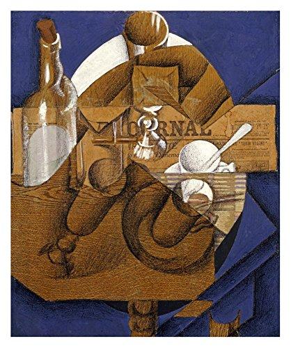 Verres Et Bouteille Le Journal - Global Gallery Art on a Budget Juan Gris Trasse Verres Et Bouteille (le Journal) Unframed Giclee on Paper Print, 30