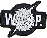 WASP Logo Punk Rock Heavy Metal Music Band Jacket shirt hat blanket backpack T shirt Patch Embroidered Appliques Symbol Badge Cloth Sign Costume Gift