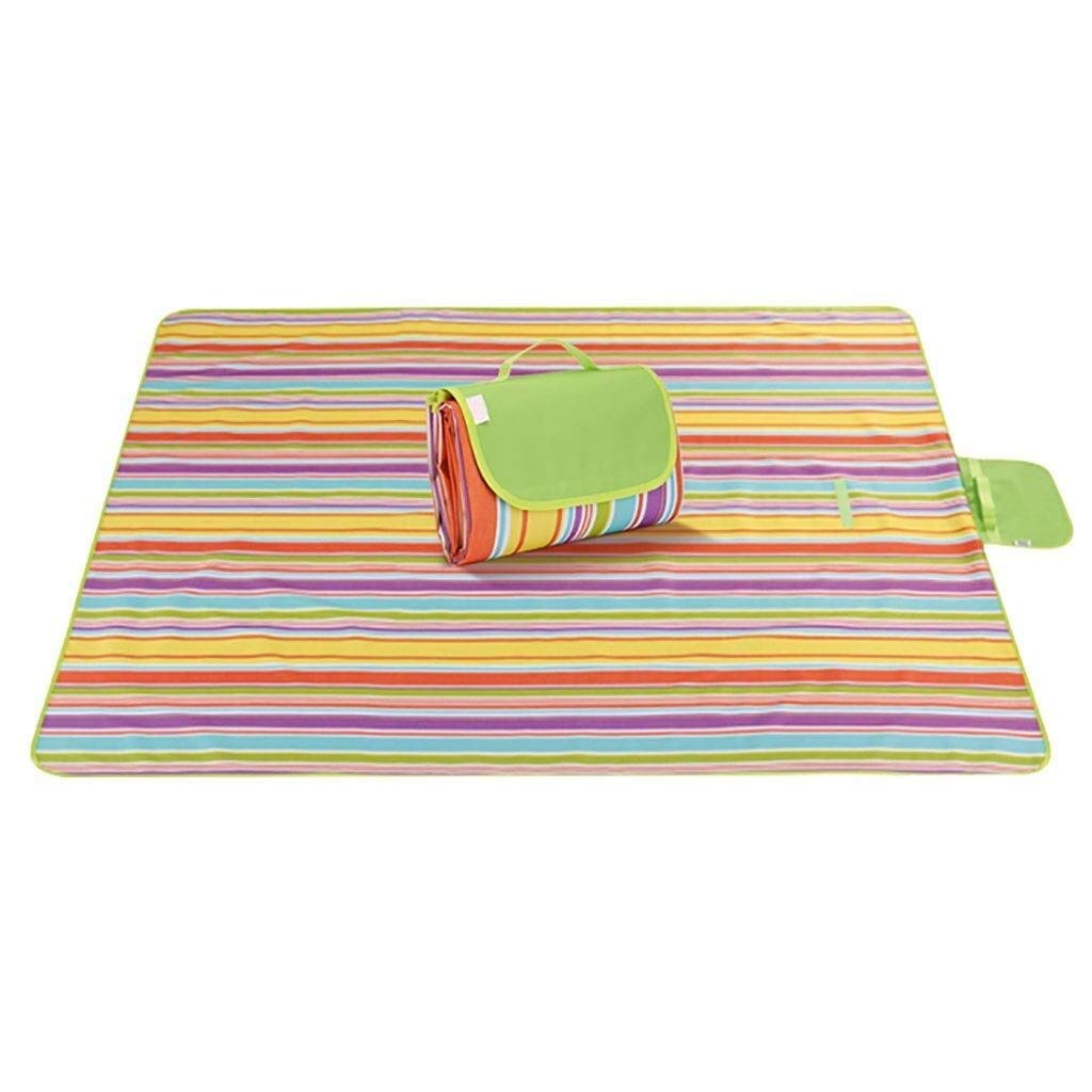 ZKKWLL Picnic Blanket Waterproof Picnic mat Outdoor Portable Folding Children's Picnic mat Thickening Moisture-Proof Waterproof Field Outing mat Beach mat (Color : B) by ZKKWLL