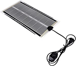 Vivian Reptile Heat Pad,110V Temperature Adjustable Under Tank Heater Mat Fit for Turtle/Snake/Lizard/Frog/Spider/Plant