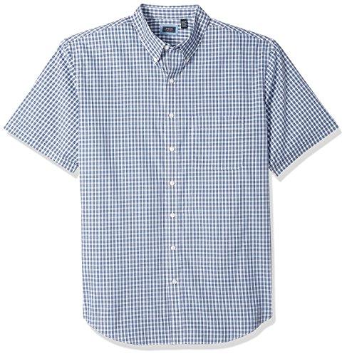 Arrow Men's Big and Tall Short Sleeve Hamilton Plaid Shirt