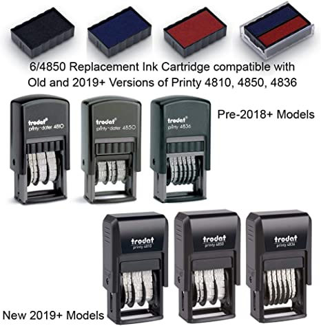 Typ 6//4850//2 blau//rot TRODAT® Stempelkissen für 4850//2