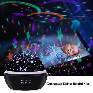Amazon.com: Proyector de luz nocturna TekHome Ocean & Star ...