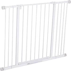 Pawhut Barrera de Seguridad Extensible Puertas y Escaleras Metálica para Perros y Bebé Barrera Puertas Mascota 72-107x76cm: Amazon.es: Productos para mascotas