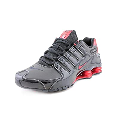 finest selection 9d05a d48f3 Amazon.com | Nike SHOX NZ MENS BLACK/GYM RED 378341-047 ...