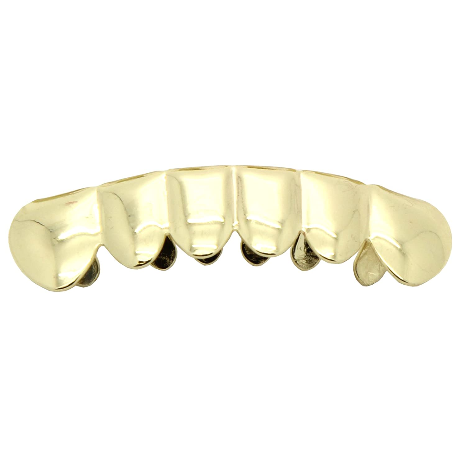Gold-Tone Hip Hop Bling Removeable Bottom Mouth Grillz Grill iRockBling 1154
