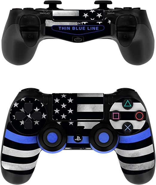 BLACK /& BLUE Matt Finish TWO TONE Colorful Accessory Wrap Sticker Skin Cover Decal for PS4 Playstation 4