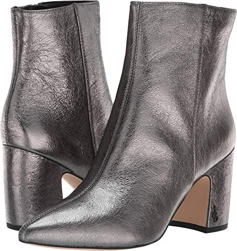 - Sam Edelman Women's Hilty 2 Fashion Boot, Dark Pewter Metallic Leather, 6 M US