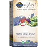 Garden of Life Multivitamin for Men - mykind Organic Men's Once Daily Whole Food Vitamin Supplement Tablets, Vegan, 60…