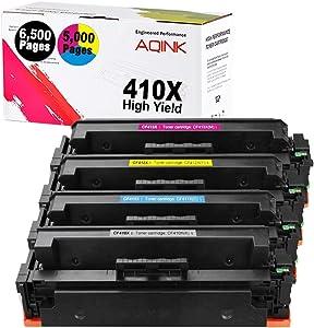 4Pk 410X Compatible M477fdw Toner Cartridge, Replacement for HP 410X High Yield Toner CF410A 410A CF410X CF411X CF412X CF413X fits for HP Color Laserjet Pro MFP M477fdw M452dn M477fdn M477fnw M477