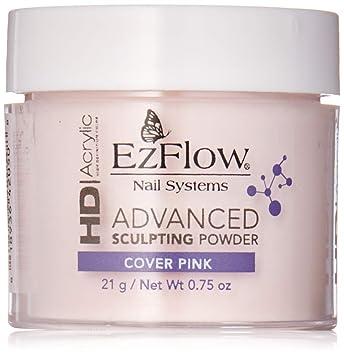 EZ Flow High Definition Cover Pink Powder False Nails, 0 75 Ounce