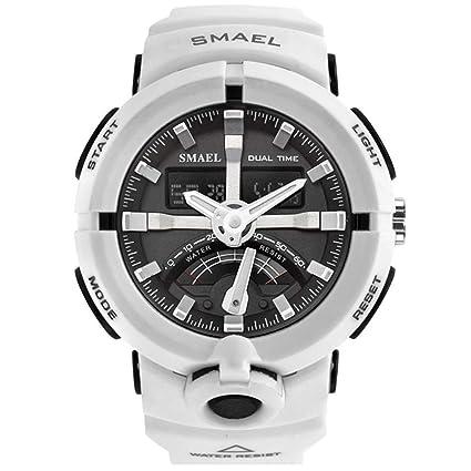SW Watches SMAEL Reloj Electrónico Relojes Deportivos Digitales para Hombres Reloj Masculino De Doble Pantalla A