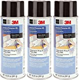3M General bUyfX Purpose 45 Spray Adhesive, 10 1/4-Ounce (3 Pack)