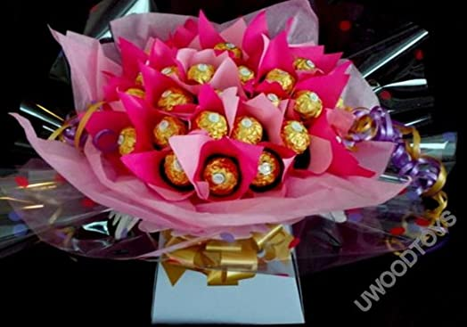 Sweet Bouquets ~ Personalised ~ Valentines Day Gift ~ 30 Chocolate ...