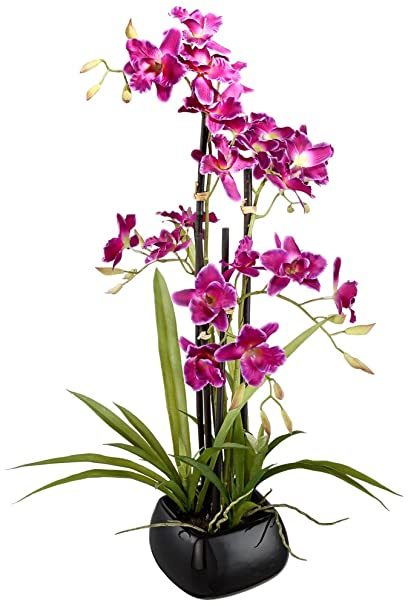 Universal Lighting And Decor Purple Cattleya 23u0026quot; High Silk Potted Plant