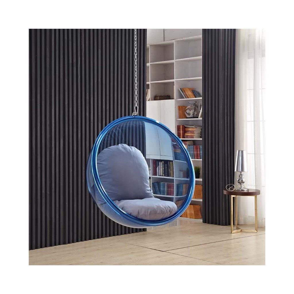 Chaise simple doscillation Color : Blue chaise ber/çante de coussin acrylique dh/émisph/ère transparent 715-YY
