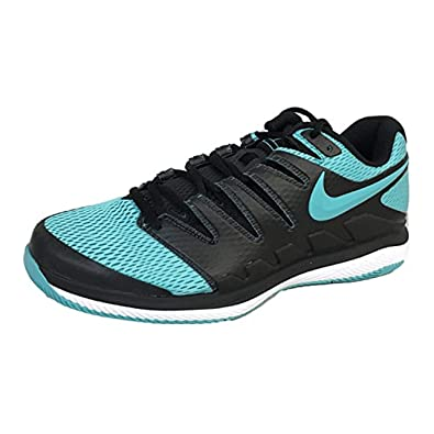 22f952b9831af Nike Men's Zoom Vapor X Tennis Shoes (8 D US, Black/Gamma Blue/White)