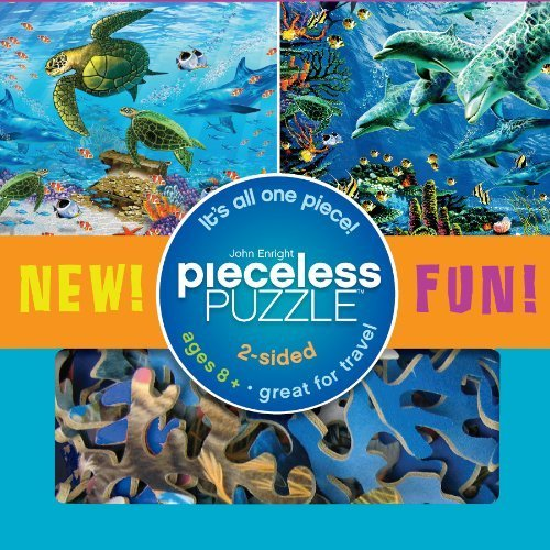 Seaside Pieceless Puzzle (2 Sided, 1 Piece) Sea Turtles & Dolphins by Ceaco