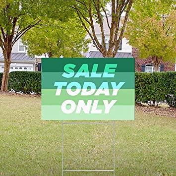 18x12 Modern Gradient Double-Sided Weather-Resistant Yard Sign 5-Pack Sale Today Only CGSignLab