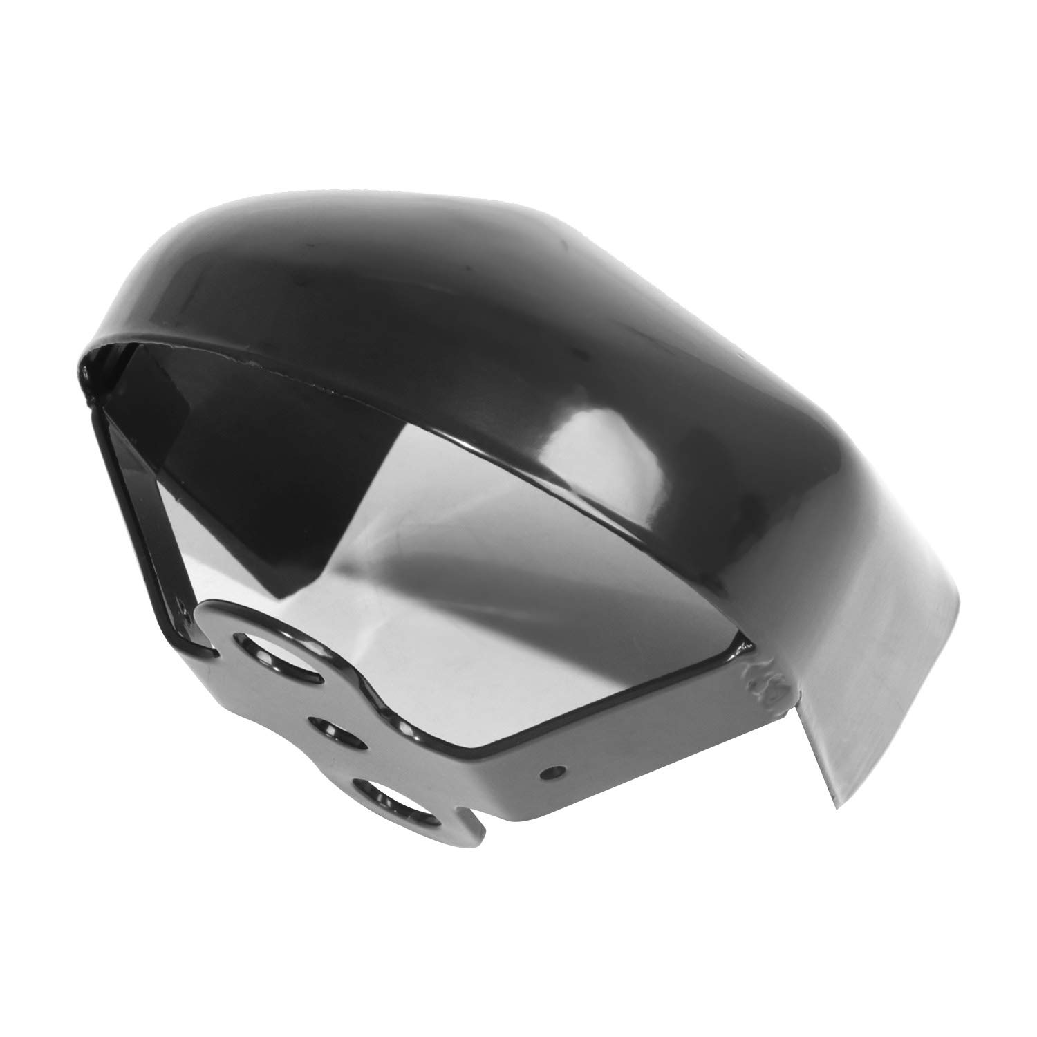 Motorcycle Gloss Black Steel Horn Cover for Harley Touring Models 1993-2017