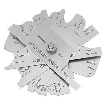 FTVOGUE Conjunto de Soldadura de Filete Calibrador de Soldadura de Calibre InspeccióN Del Soldador Ulnar Herramientas