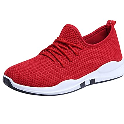 LuckyGirls Zapatillas de Correr Malla Jogging Zapatos Informales con Cordones Calzado Deportivo