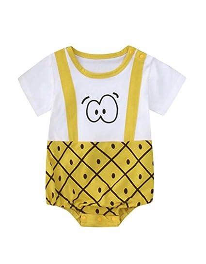 Pijama unisex de algodón para bebés, niños y niñas, estampado de pijamas para bebés