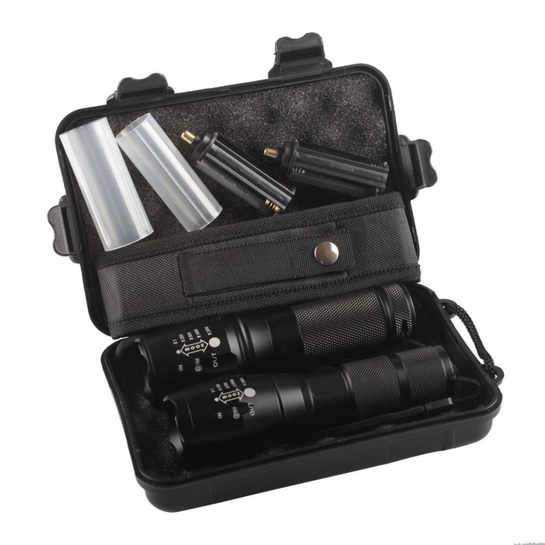 LED Flashlight,IEason Mini 3500LM Zoomable CREE Q5 LED Flashlight 3 Mode Torch Super Bright Light Lamp (L)