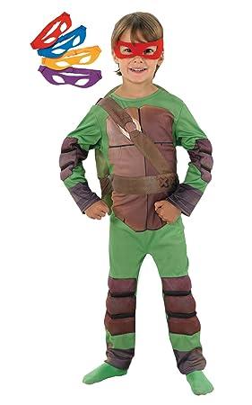 Rubbies - Disfraz de ninja para niño, talla L (128 cm) (I-886812L)
