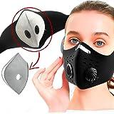 Health Dress Cubrebocas Máscara Deportiva de Neopreno Ajustable para protección de contaminación Polvo y partículas con…