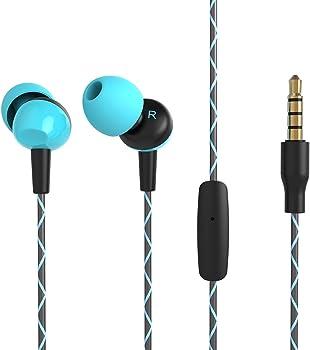 OARIE In-Ear Headphones with Microphone & Zipper Case