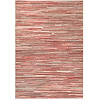 Dream House Rugs Samantha Yacht Sand-Maroon-Salmon Indoor/Outdoor Area Rug - 86 x 13