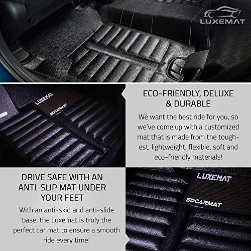 Black Better Than Rubber Car Mat Canzhou Waterproof /& Dirt Proof Luxemat Custom All Weather 5D Car Mat for 2014-18 Nissan Rogue Eco-Friendly /& Easy to Clean | Anti-Slip Auto Flooring