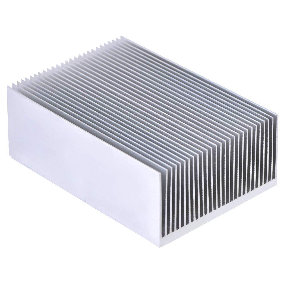 Alluminio Dissipatore 100 x 69 x 36 mm Raffreddamento Alluminio Dissipatore Calore per LED Amplificatore ad alta Potenza Dispositivi a Semiconduttore a Transistor