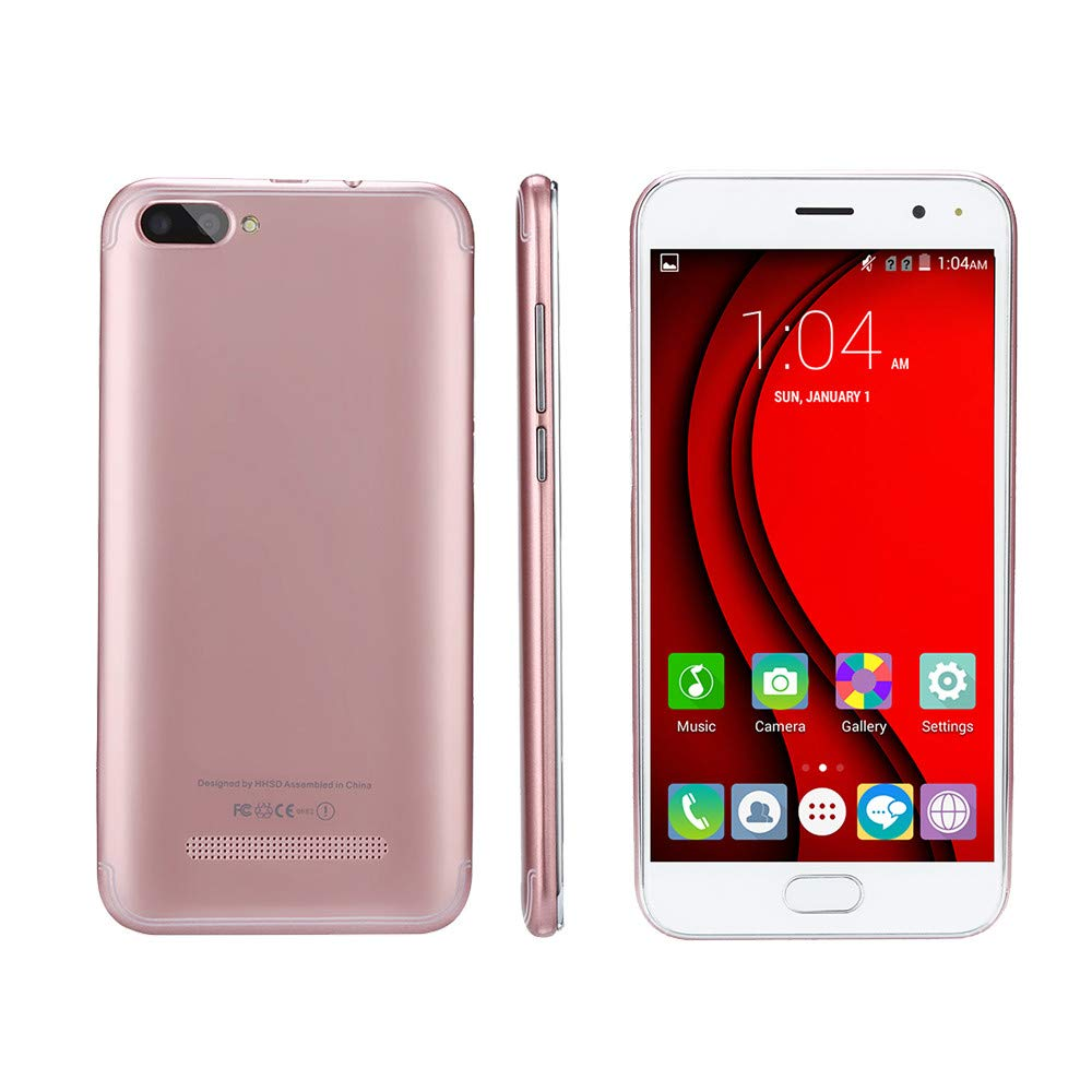 Unlocked Smartphone Cellphone, 5.7 inch Dual SIM Dual HD Camera Cell Phone Android 5.1 256M+512M GPS 3G Mobile Phone (Rose Gold, P113) by Aritone (Image #2)